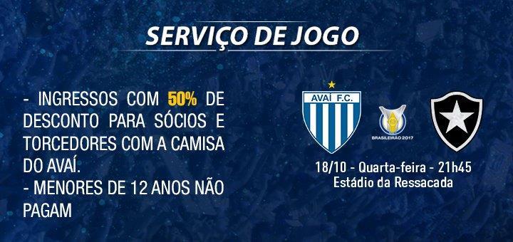 ac1a912811 Avaí Futebol Clube » Ingressos para Avaí x Botafogo já estão à venda