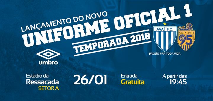 Avaí Futebol Clube » Avaí lança novo uniforme 6ª feira (26) 79682abc62434