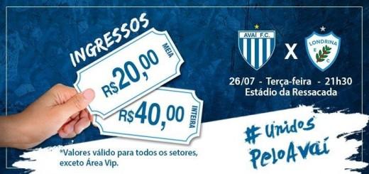 Serviço de jogo - Avaí x Londrina (site) 26072016